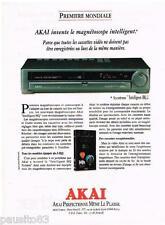 PUBLICITE ADVERTISING 0105  1991  AKAI  magnétoscope INTELLIGENT HQ  cassettes v