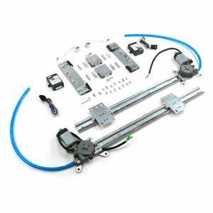 Flat Glass Window Switch Kit for 60-66 Chevy Truck w/ Billet Crank Handles