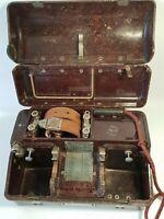 📞 ancien téléphone de campagne appareil de transmission militaire guerre