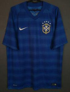 MEN'S NIKE BRAZIL BRASIL NATIONAL 2014/2015 FOOTBALL SOCCER SHIRT JERSEY SIZE L