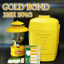 Coleman Lantern Gold Bond 228h oil fuel may1973 Vintage camping Made in February