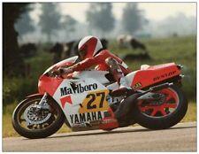 post card Yamaha YZR500 OW70 #27 Eddie Lawson  Dutch TT Assen 1983