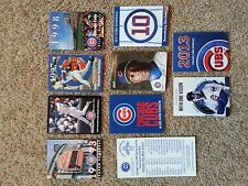 Ten (10) Chicago Cubs Vintage Schedules, Various Years