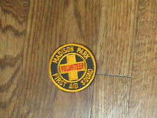 madison park ,new jersey,first aid squad, VINTAGE,patch,  new old stock 60's