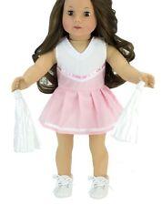 "Lovvbugg Pink Cheerleader Uniform Costume for 18"" American Girl Doll Clothes"