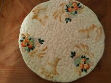 Newport Pottery Plate floral collectable fruit