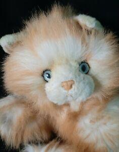 "Yomiko Classics Kitty Cat Plush Orange White Vintage 18"" Blue Eyes Russ Soft"