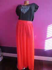 NEW! Victoria's Secret!! VERY SEXY HOT PINK MAXI SKIRT SZ:6=MEDIUM