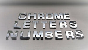 NEW 3D SELF ADHESIVE CAR CHROME LETTERS + NUMBERS,  27mm TALL
