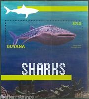 GUYANA 2014 SHARKS SOUVENIR SHEET  MINT NH