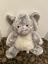 Aurora Plush Grey And White Elephant Stuffed Animal