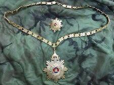 Royal Order Of Cambodia National Current Merit Necklace & Merit Badge