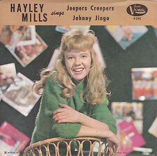 """Hayley Mills """"Jeepers Creepers"""" & """"Johnny Jingo"""" 1962 Record & Picture Sleeve NM"""