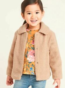 GAP OLD NAVY Plush Sherpa Coat for Toddler Girls NWT 2T 3T NNN