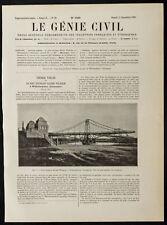 1909, Pont tournant Kaiser Wilhelmshaven (Allemagne). Architecture
