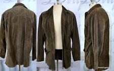 vintage men's Banana Republic suede leather jacket coat over-sized M soft supple