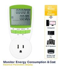 US Plug In Power Meter LCD Energy Monitor Watt Volt KWH Electricity Usage Tool