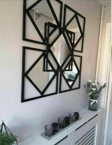 Gorgeous Set Of 3 Manhattan Mirrors Black Square Mirror Hallway Living room 🤩