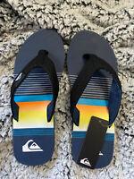 Quiksilver 12 Men's Flip Flops Sandals Molokai Layback Wide Strap Men's