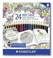 24 x Staedtler Noris matite colorate 185 C24JB - Johanna Basford EDIZIONE