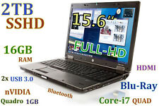 (3D-Design FHD) HP 8540w i7-QUAD (Blu-Ray 2TB SSHD 16GB) 15.6 nVIDIA HDMI USB-3