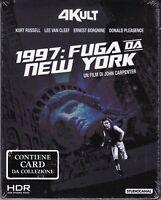 4K UltraHD + Blu-ray 1997 FUGA DA NEW YORK John Carpenter Kurt Russel nuovo 1981