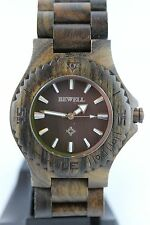 BEWELL Horloge en bois 42 mm choccolate. de Santal Montre cadeau Aware