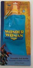 Wonderwoman Reusable Soft Bottle New Foldable, Freezable Puncture Resistant