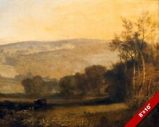 LOWTHER CASTLE CUMBRIA ENGLAND ENGLISH LANDSCAPE PAINTING ART REAL CANVAS PRINT