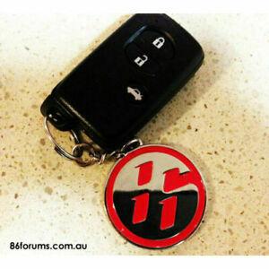 2 SIDED RED TOYOTA 86 KEYRING Key Ring fr zn6 GT86 FT86 GTS Scion FR-S FRS alarm