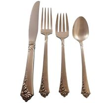 Damask Rose by Oneida Sterling Silver Flatware Set For 12 Service 48 Pieces