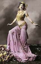 VINTAGE MATA-HARI FRENCH BELLY DANCER FINE COSTUME NEAR NUDE WWI SPY PHOTO 6