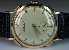 Mathey-Tissot 14K Solid Yellow Gold 32mm 17j 180 EYG Swiss Luxury Vintage Watch
