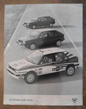 LANCIA DELTA orig 1980s Press Photo - Martini Brochure Related - Ref 1