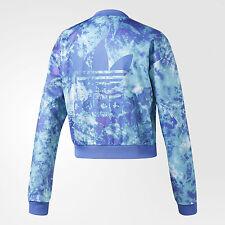 Adidas OCEAN ELEMENT CROPPED SUPERSTAR AOP Track Jacket Top firebird~Womens sz M