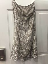 Preowned The Limited Safari Print Strapless Cocktail Dress, Sz 6