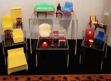 Vintage Renwal & Marx Hard Plastic Dollhouse Furniture Lot