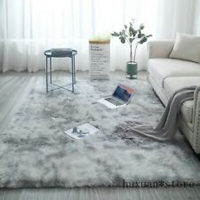 Grey Carpet Tie Dyeing Plush Soft Carpets Anti-slip Floor Mats Bedroom Rugs NEW