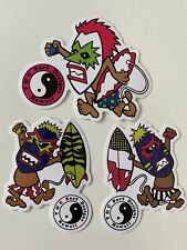 T&C Tiki Stickers Town Country Surfboards Hawaii TIKI Surfing STICKER SET 3 Lot
