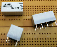 2A DPDT IP67 Minature Signal Relay 12V dc TRK2233-12V Gold Contacts  Multi Qty