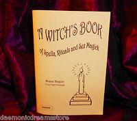 A WITCHES BOOK OF SPELLS, RITUALS & SEX MAGICK Finbarr Occult Magic Black White