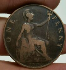 1902 Great Britain - One Penny.  High grade. Scarce Date