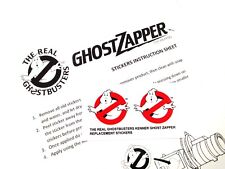 THE REAL GHOSTBUSTERS REPLACEMENT STICKERS for KENNER Ghost Zapper  'Pre-cut'