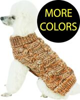 Royal Bark Heavy Cable Knit Designer Fashion Pet Dog Sweater Clothes Clothing