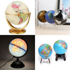 10.5-32cm Globe Terrestre Vintage Mappemonde Pr Éducation Décor/ Noël Cadeau