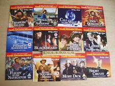 FAMILY ADVENTURE MOVIES SHORT CIRCUIT LASSIE BLACKBEARD - FULL SET 12 PROMO DVDS