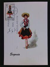 SPAIN MK 1970 COSTUMES SEGOVIA TRACHTEN MAXIMUMKARTE MAXIMUM CARD MC CM c6066
