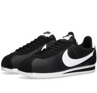 Nike Classic Cortez Nylon OG Trainers Mens Uk Size 11.5 807472 011 Black/White