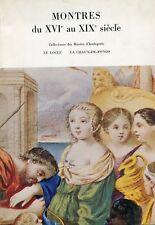 AA.VV., Montres du XVIe au XIXe siècle. Catalogo. Villa Maraini, Roma, 1970