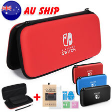 Carrying Case Bag Shell &Tempered Glass Screen Protector For Nintendo Switch